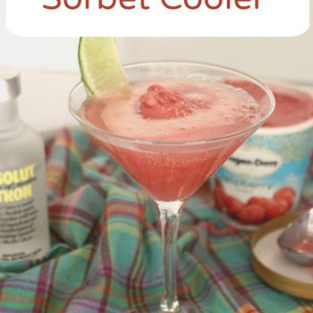 Vodka Raspberry Sorbet Cooler Recipe