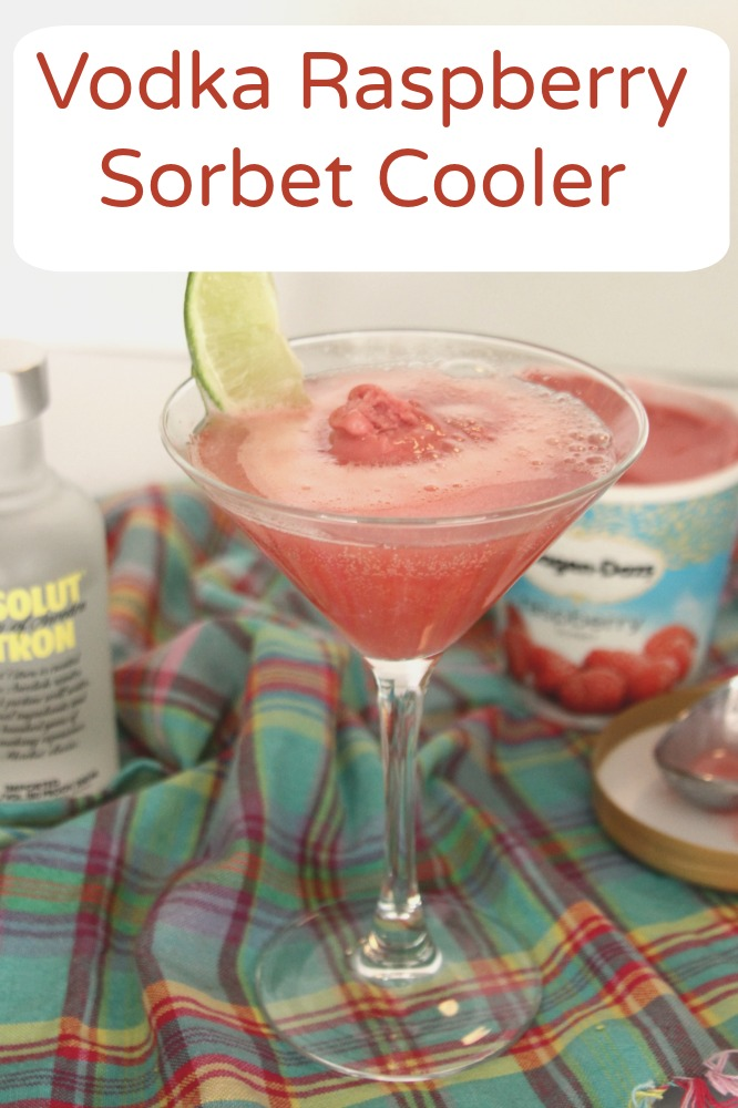 Vodka Raspberry Sorbet Cooler