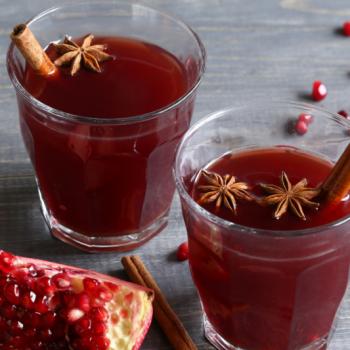 boozy pomegranate cider