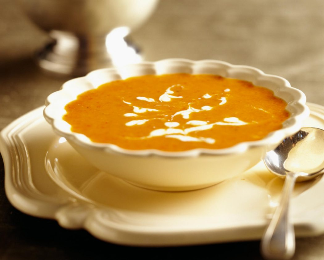 Butternut Squash Soup with Cider Cream - Just Short of Crazy