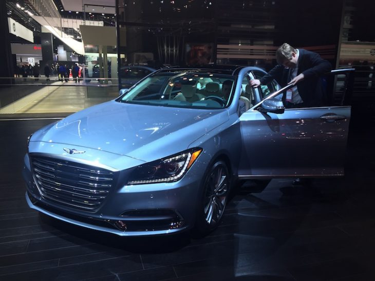 North American International Auto Show Genesis G90