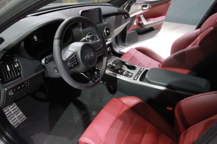 North American International Auto Show kia stinger interior