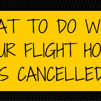 what to do when your flight home is cancelled