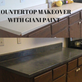 How To Paint Countertops with Giani #SmallHouseLiving