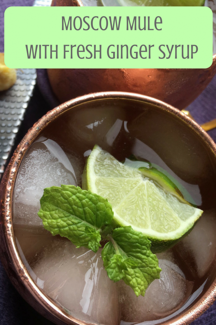 Moscow Mule with fresh ginger syrup