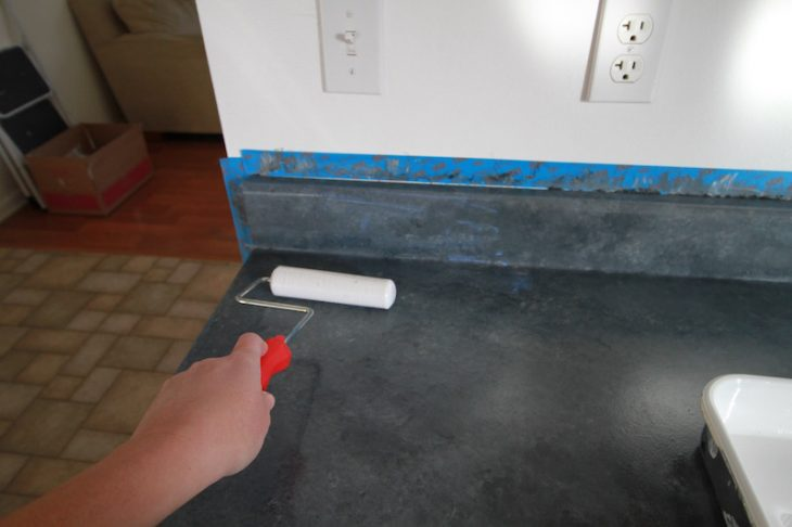 Paint Countertop Solid Color : PAINT COUNTERTOPS STEP 5