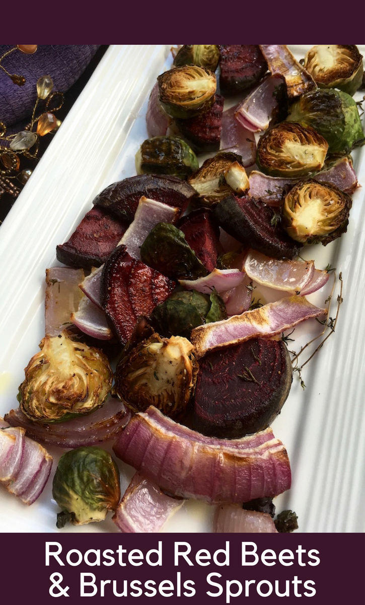 Roasted Red Beets & Brussels Sprouts Recipe