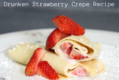 drunken strawberry crepe recipe