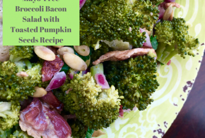 Mayo-Free Broccoli Bacon Salad with Toasted Pumpkin Seeds Recipe