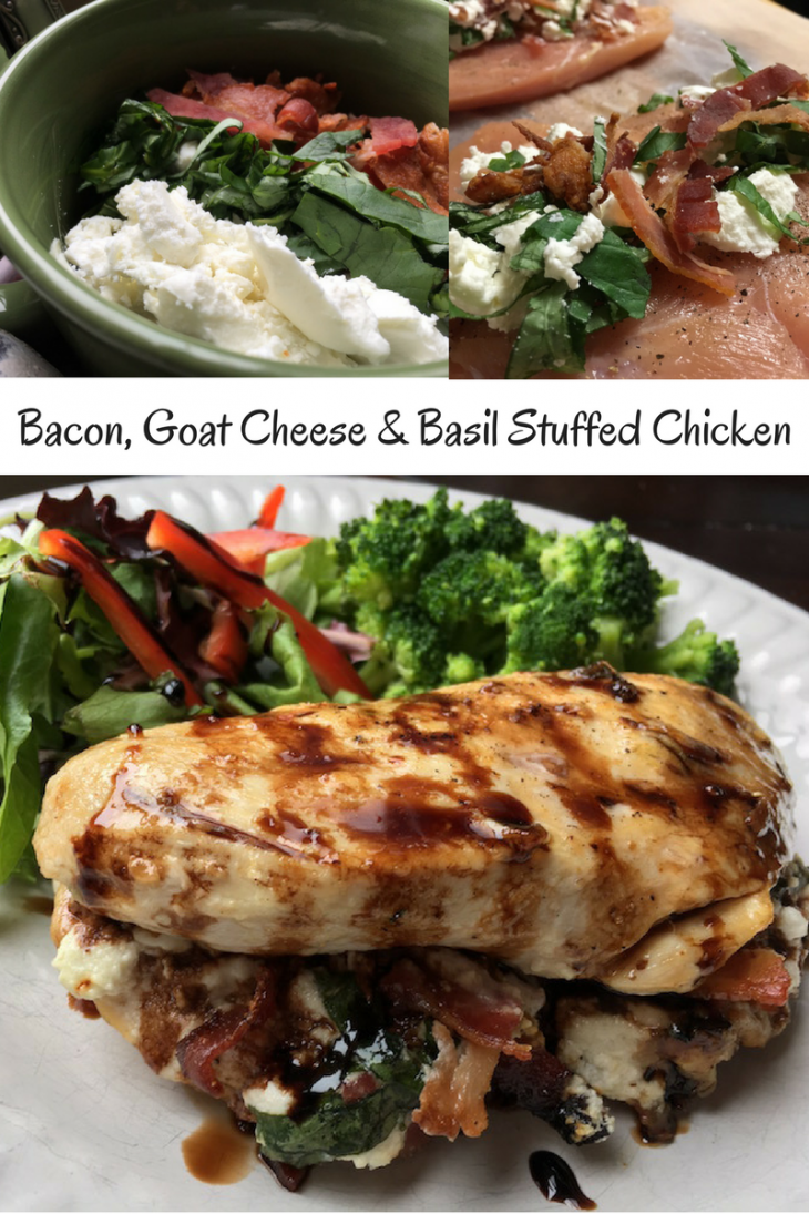 Bacon Goat Cheese Basil Stuffed Chicken Recipe Just