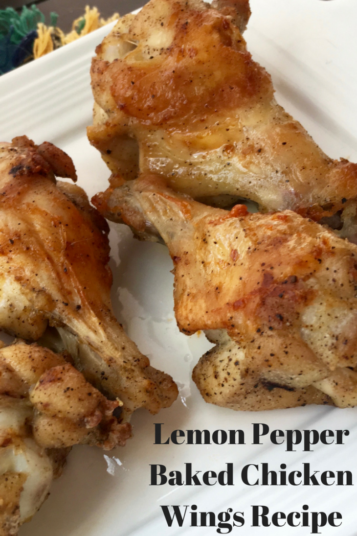 GAME DAY Lemon Pepper Baked Chicken Wings Recipe
