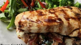 Bacon, Goat Cheese & Basil Stuffed Chicken Recipe