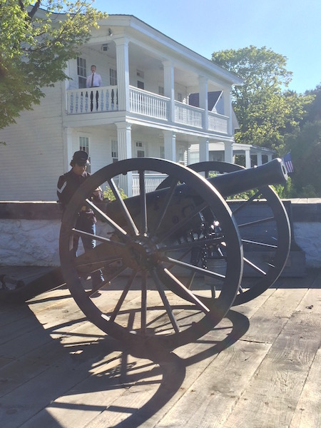 canon firing at fort mackinac on mackinac island