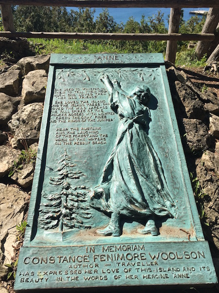 Anne's Tablet - a memorial to Anne's Tablet is a tribute to author Constance Fenimore Woolson who spent time on the island and became a well-known, early 19th-century author.