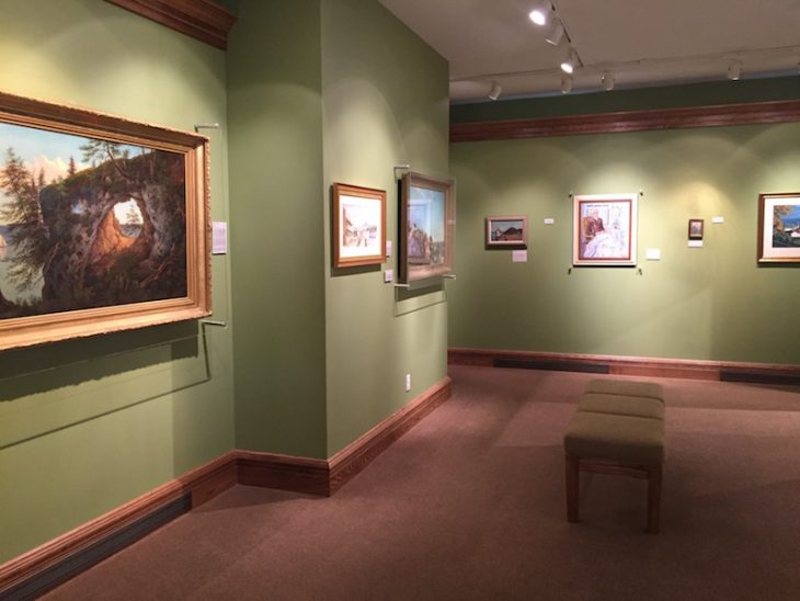 Interior of Mackinac Art Museum on mackinac island