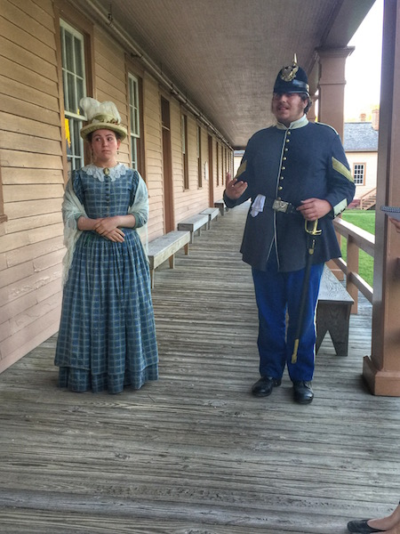 Costumed living history characters at Fort Mackinac On Mackinac Island2