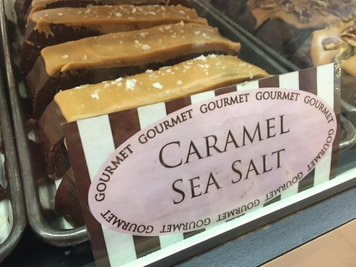 carmel sea salt fudge on mackinac island