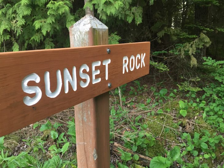 sunset rock trail marker