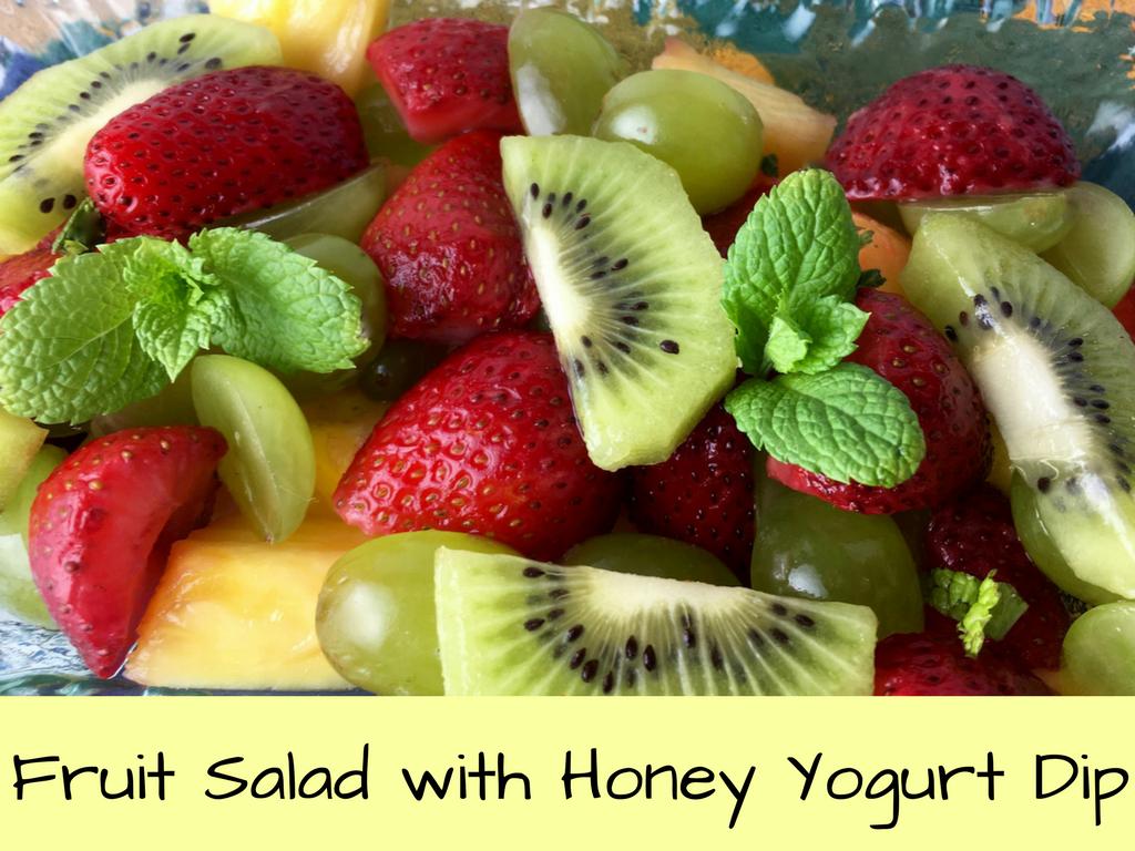 Fruit Salad with Honey Yogurt Dip