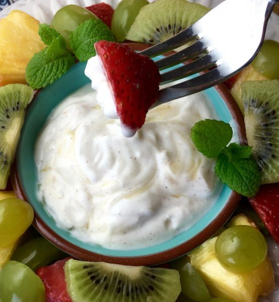 Fruit Salad with Honey Yogurt Dip3