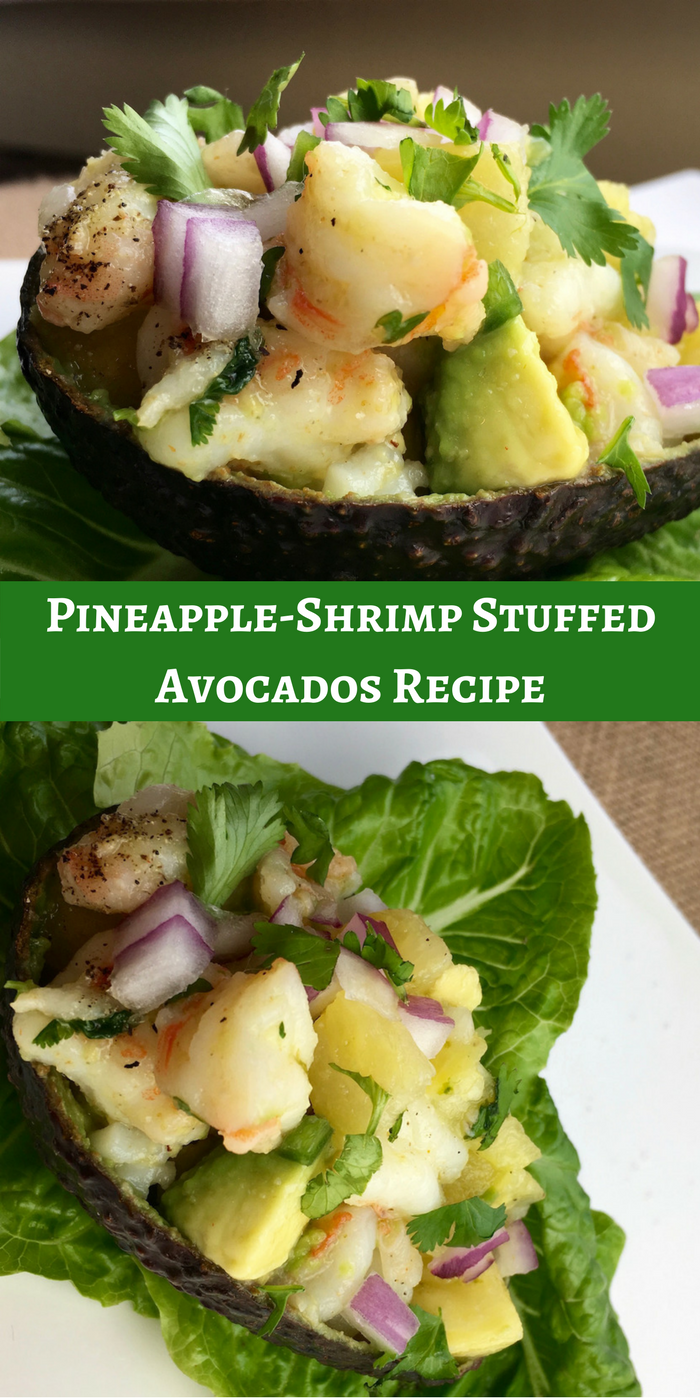 Pineapple-Shrimp Stuffed Avocados Recipe