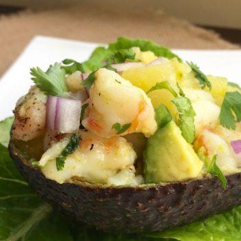 Pineapple-Shrimp Stuffed Avocados Recipe