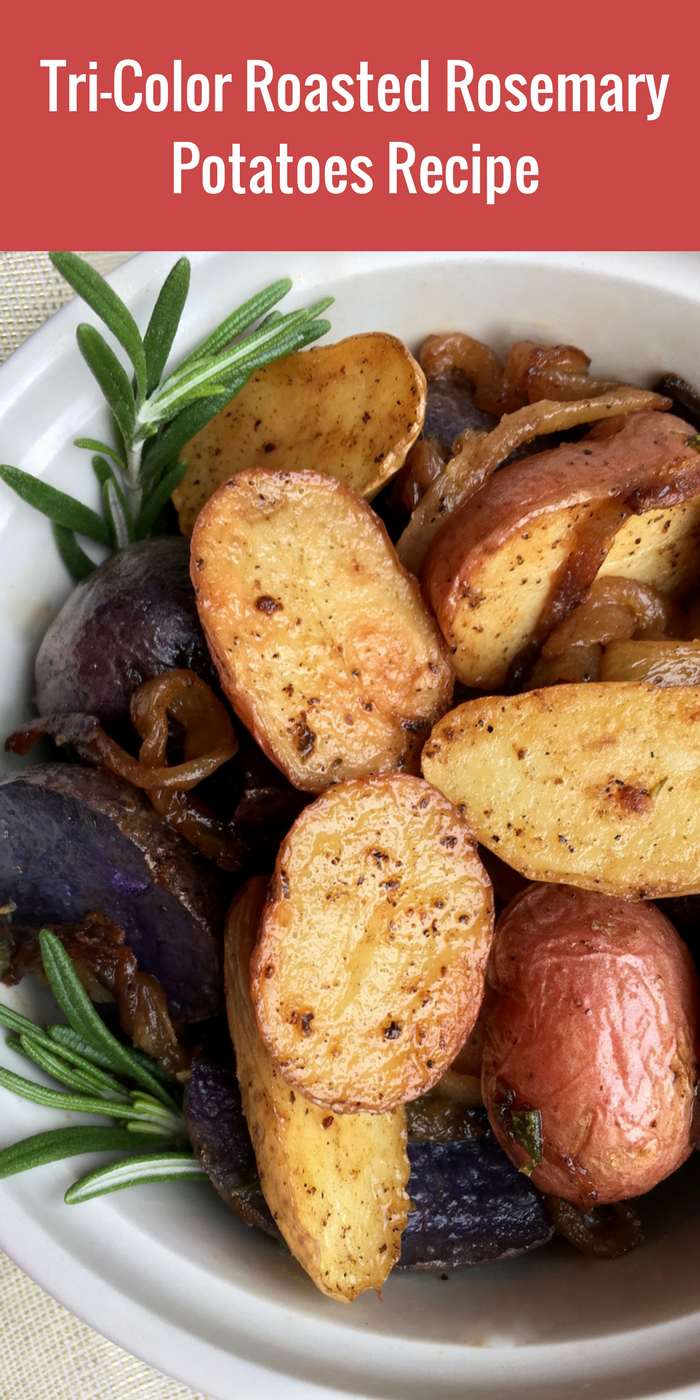 Tri-Color Roasted Rosemary Potatoes Recipe