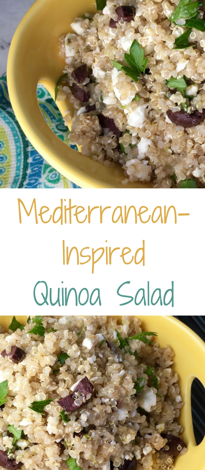 Mediterranean Inspired Quinoa Salad