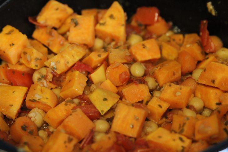 Vegan Sweet Potato & Chick Pea Hash