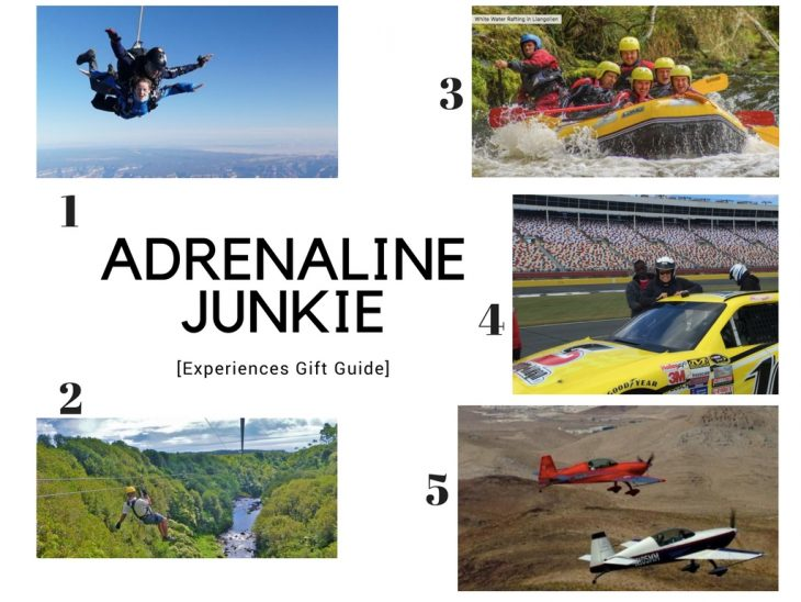 ADRENALINE JUNKIE Experiences gift guide