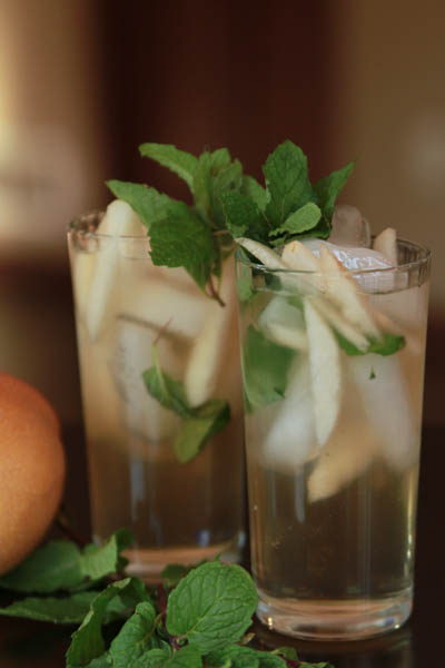 Asian Pear Mojito Cocktail