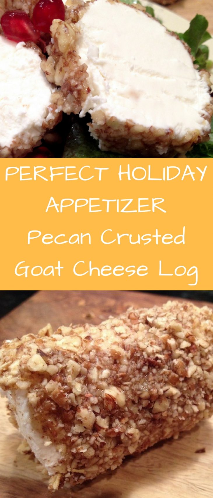 pecan crusted goat cheese log