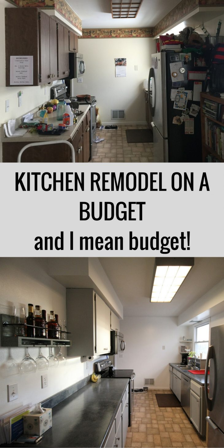 Kitchen remodel on a budget just short of crazy for Renovate a kitchen on a budget
