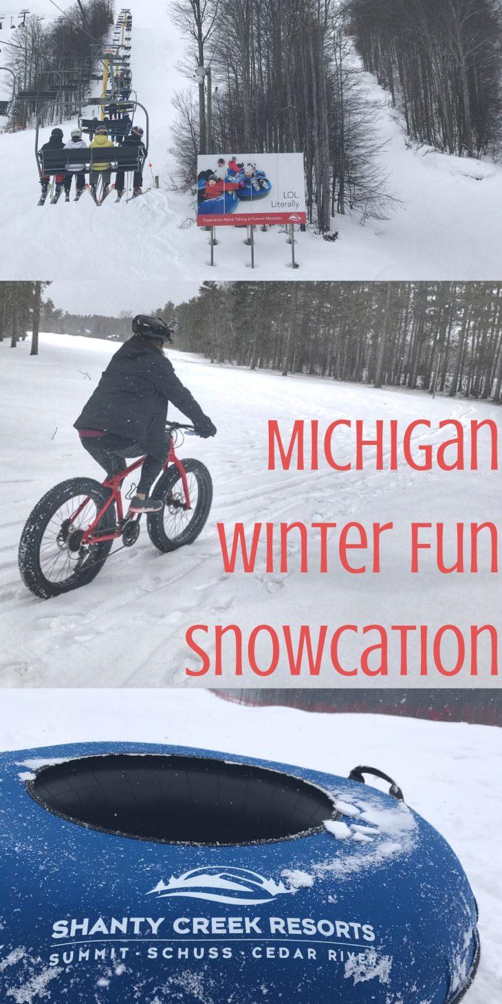 Michigan Winter Fun Snowcation Pin