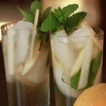 Asian Pear Mojito Cocktail