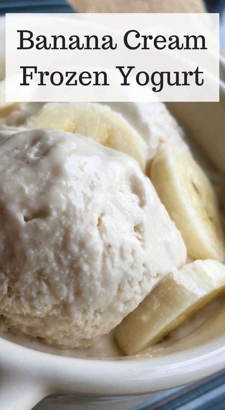 Banana Cream Frozen Yogurt