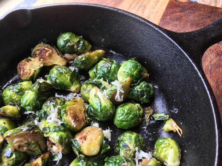 Roasted Brussels Sprouts with Balsamic Glaze