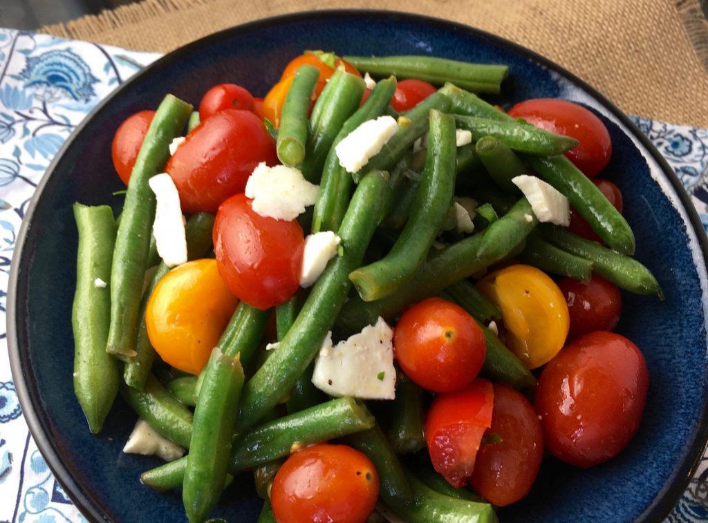 Green Bean Salad with Tomatoes & Feta Recipe