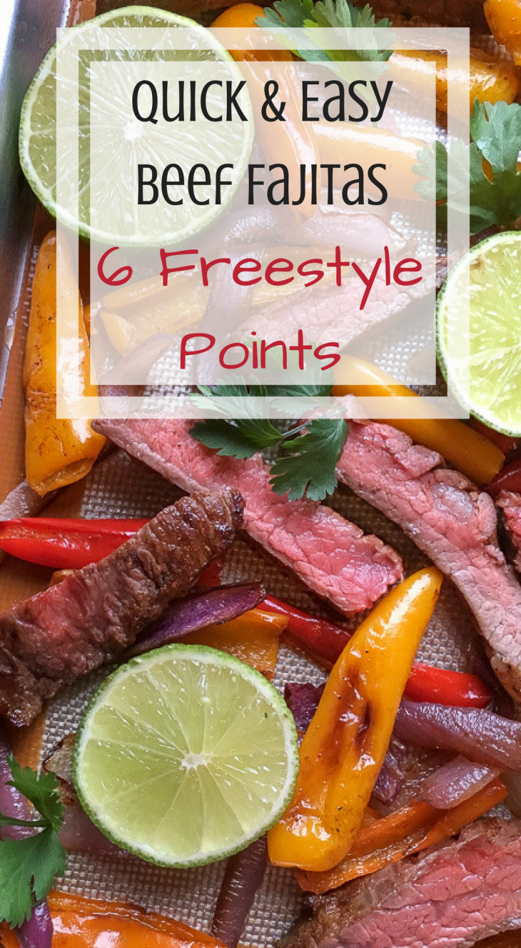 quick, easy beef fajitas wight watchers freestyle dinner idea