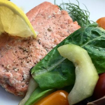 This Lemon Dill Pan Fried Salmon is a perfectly delicious and healthy meal that is ready in just a few minutes! Everyone in the family will love this recipe for dinner!