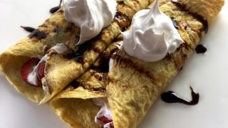 Strawberry Balsamic Glaze Crepes