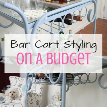 How To Take A Bar Cart From Drab to Fab