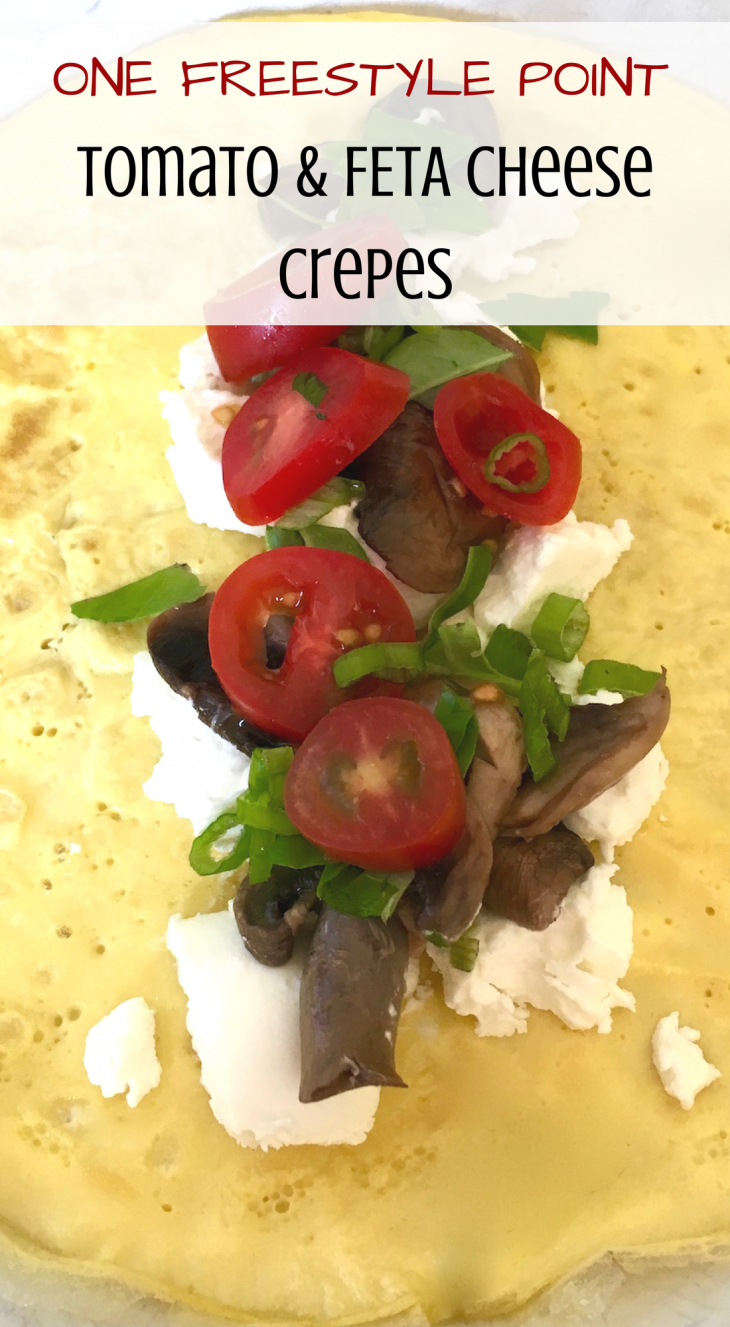 Goat Cheese & Tomato Crepes Recipe - Just Short of Crazy