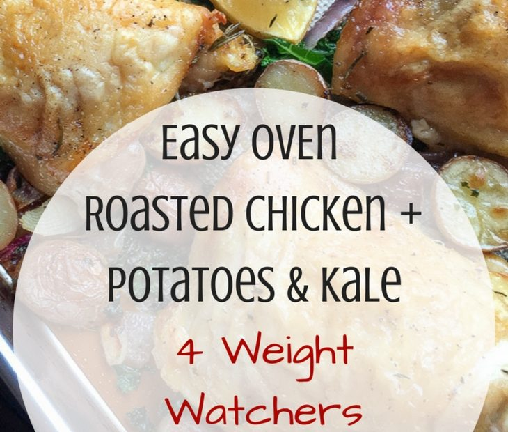 Easy Oven Roasted Chicken with Potatoes & Kale 