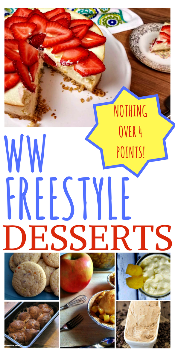 10 Weight Watcher Freestyle Desserts under 4 points each