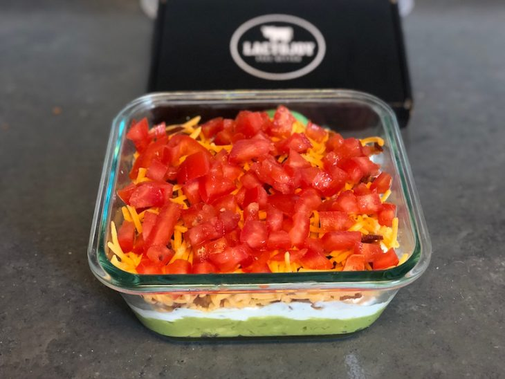 Easy to make BLT dip that is the perfect picnic rescue recipe that everyone can enjoy with LactoJoy Lactose Intolerance Pills