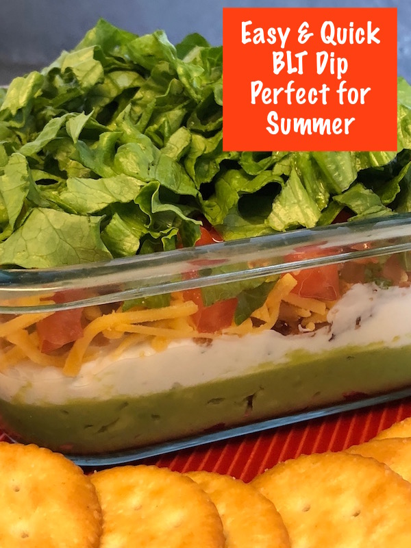 BLT Dip is perfect for summer! And if you're lactose intolerant be sure to use LactoJoy so you can enjoy this BLT dip as well.