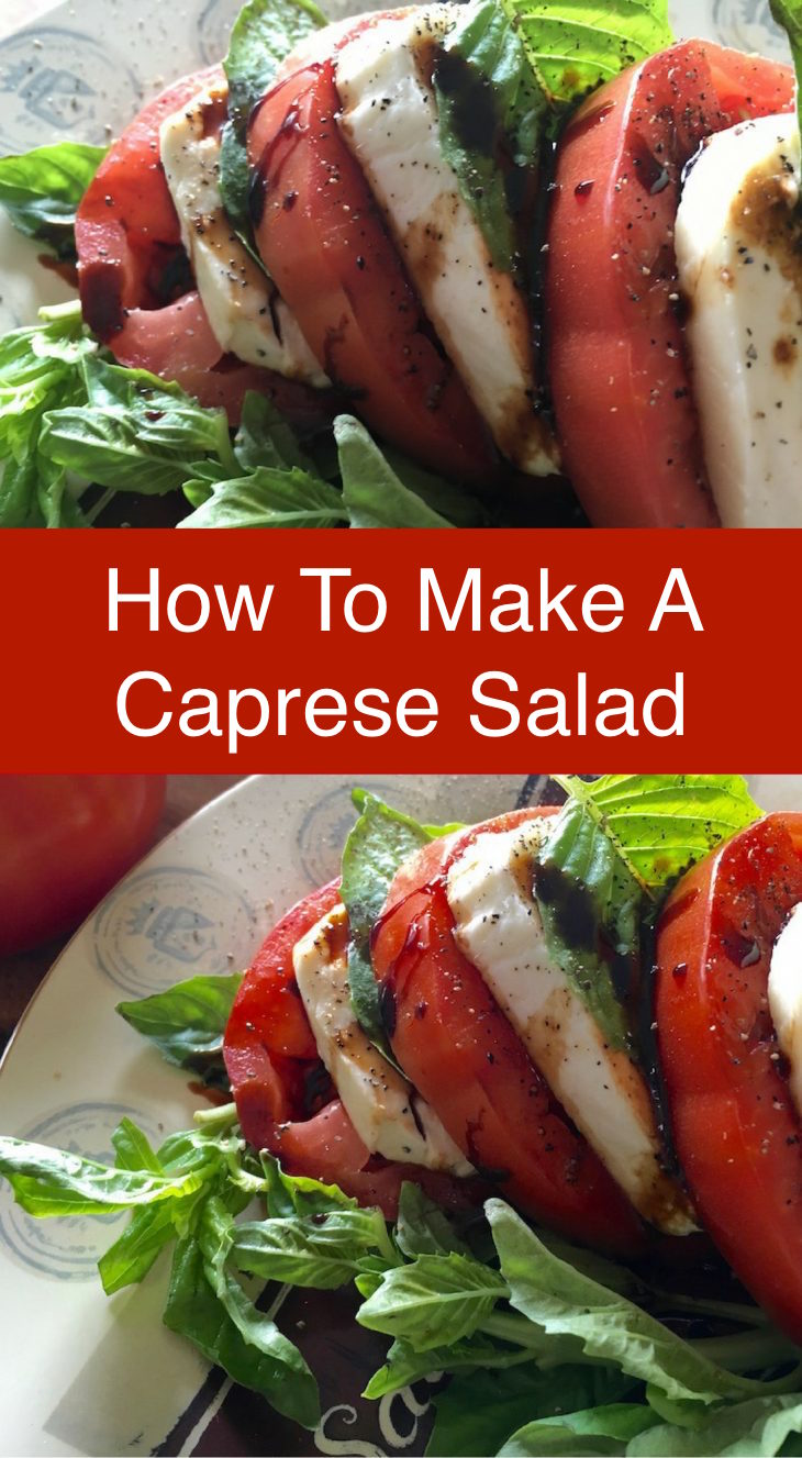 How to Make A Caprese Salad with Weight Watchers Freestyle point tips