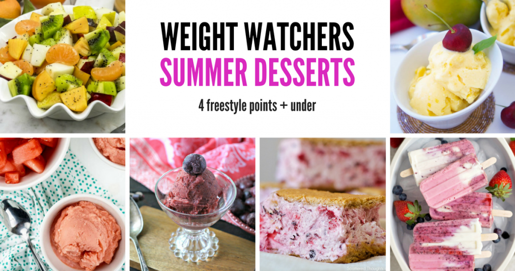 18 Weight Watchers Summer Desserts – 4 Freestyle Points + under