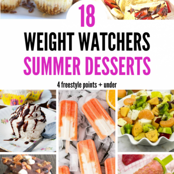 18 Weight Watchers Summer Desserts – 4 Freestyle Points + under Pinterest